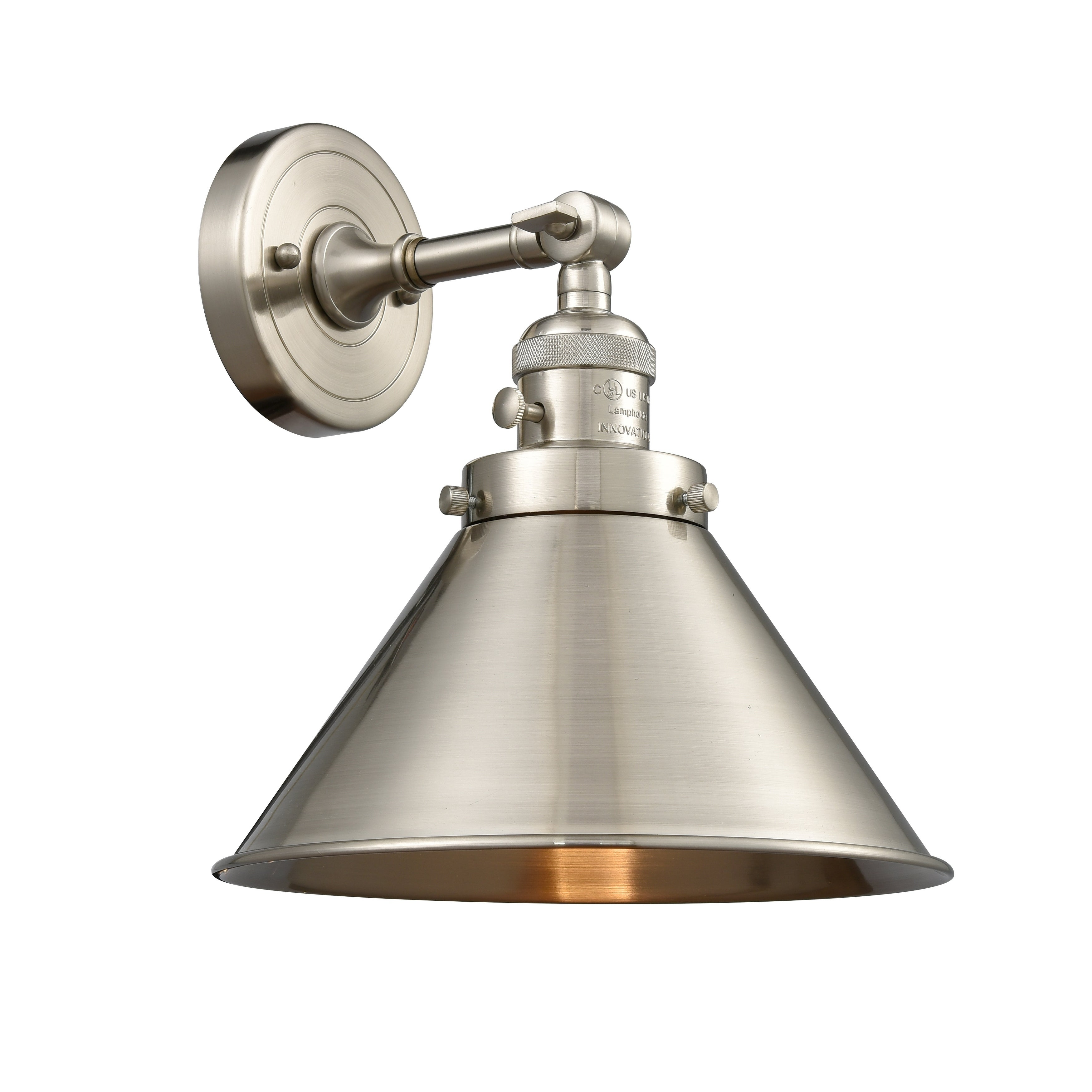 Innovations lighting briarcliff 1 light adjustable sconce with switch