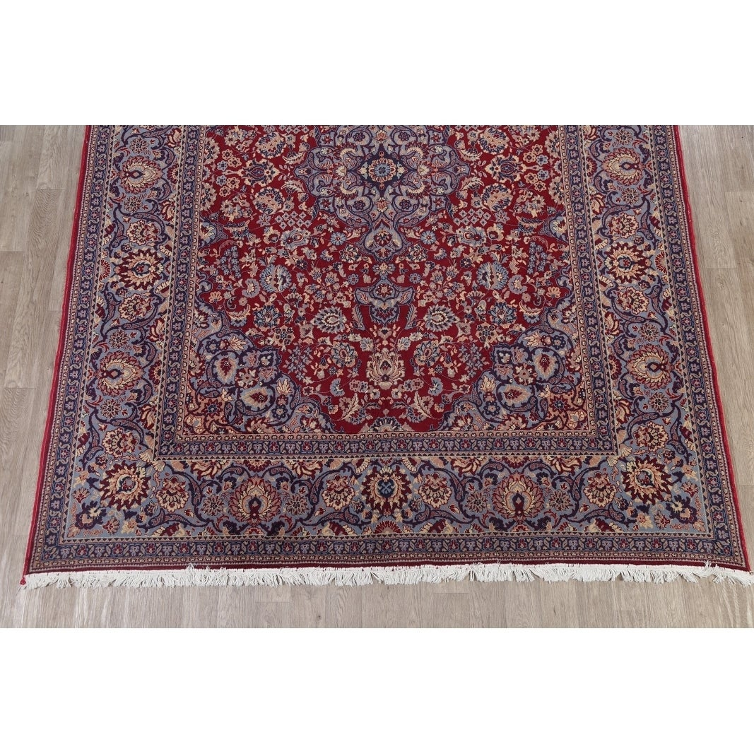 """Shop Soft Pile Acrylic Floral Medallion Hamedan Persian Carpet Area Rug - 12'2"""" x 9'6"""" - On Sale - Free Shipping Today - Overstock.com - 24113209"""