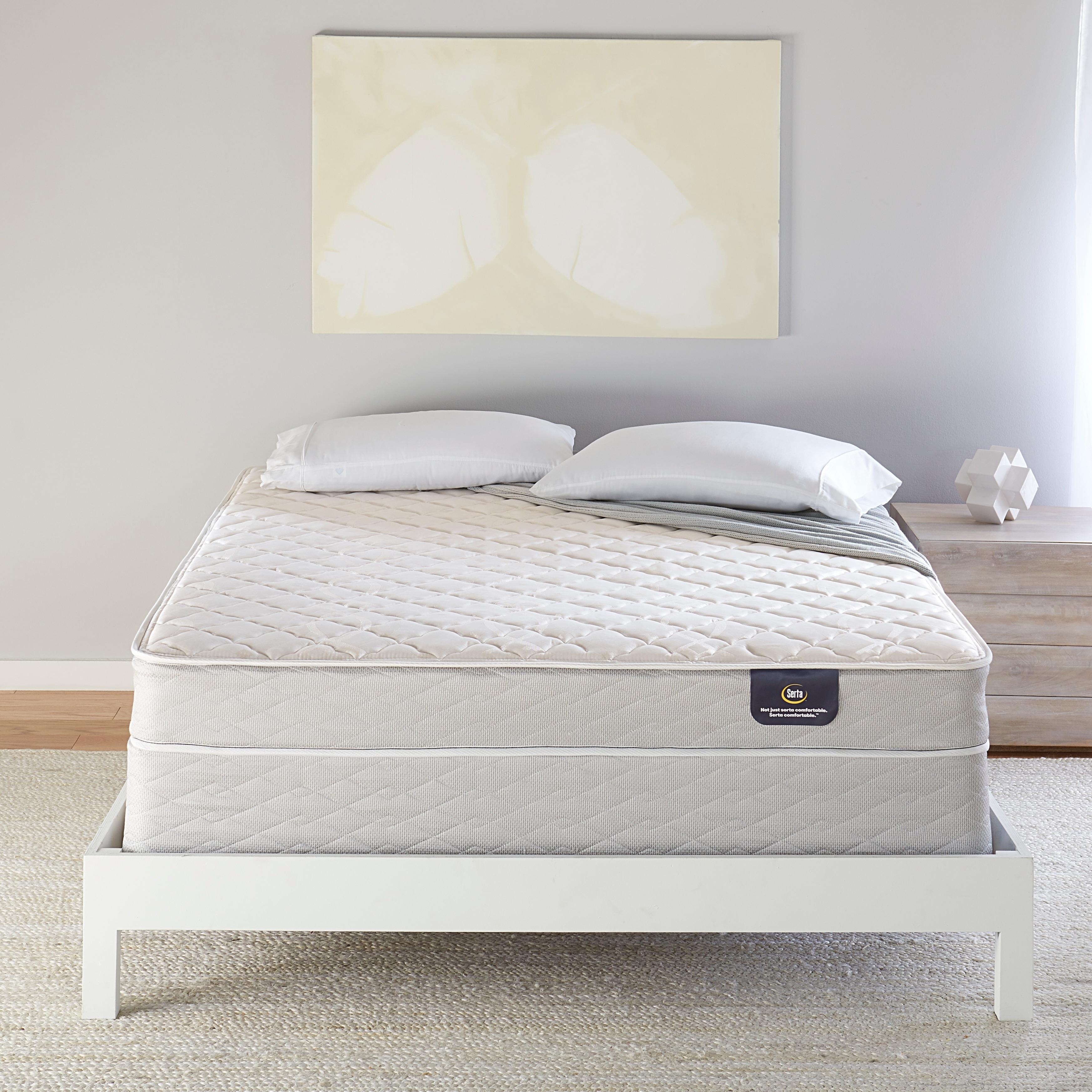 Shop Serta 7 inch Firm Innerspring Full size Mattress Set   Free