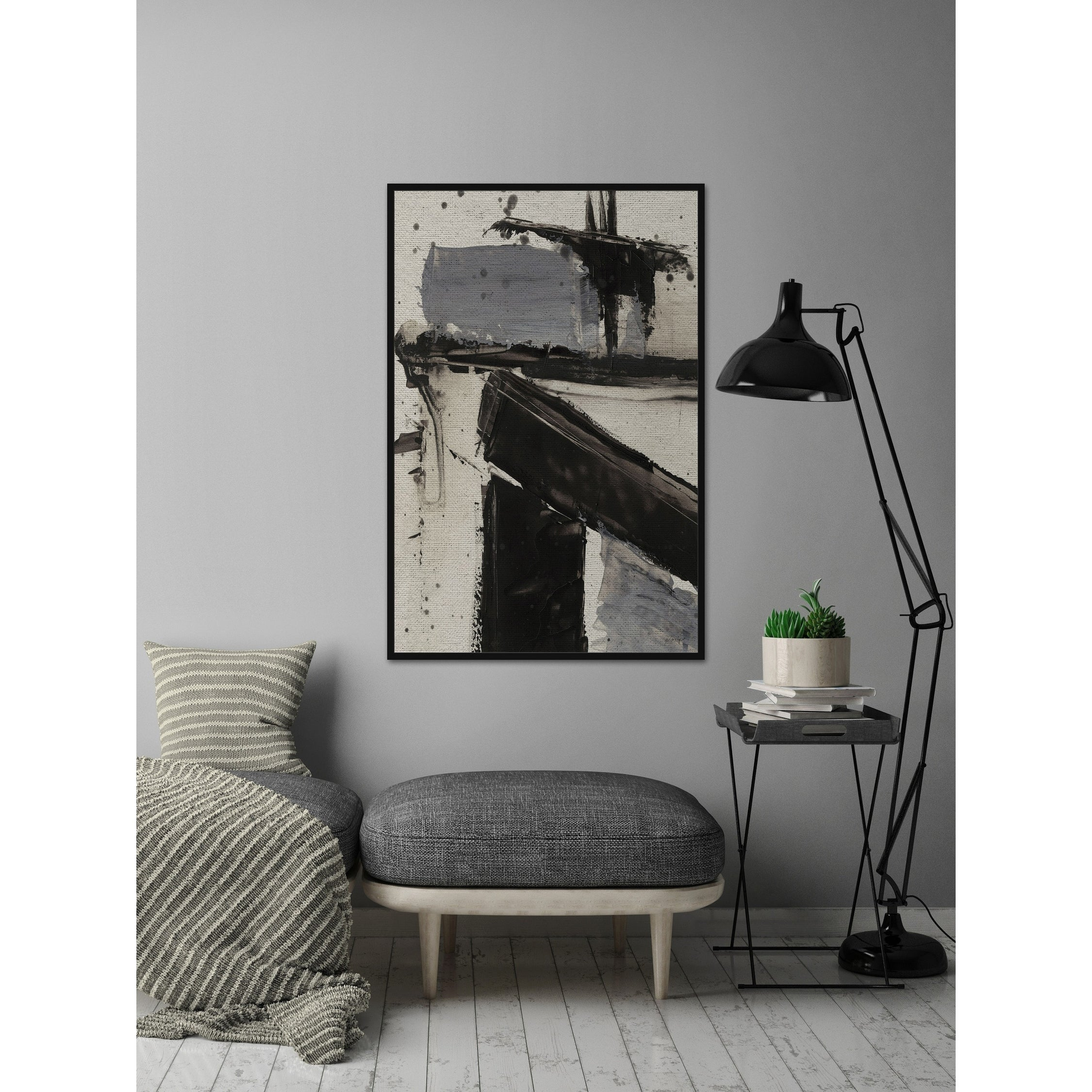 Shop U0027Demolition VIu0027 Floater Framed Painting Print On Canvas   Multi Color    Free Shipping Today   Overstock.com   24126018