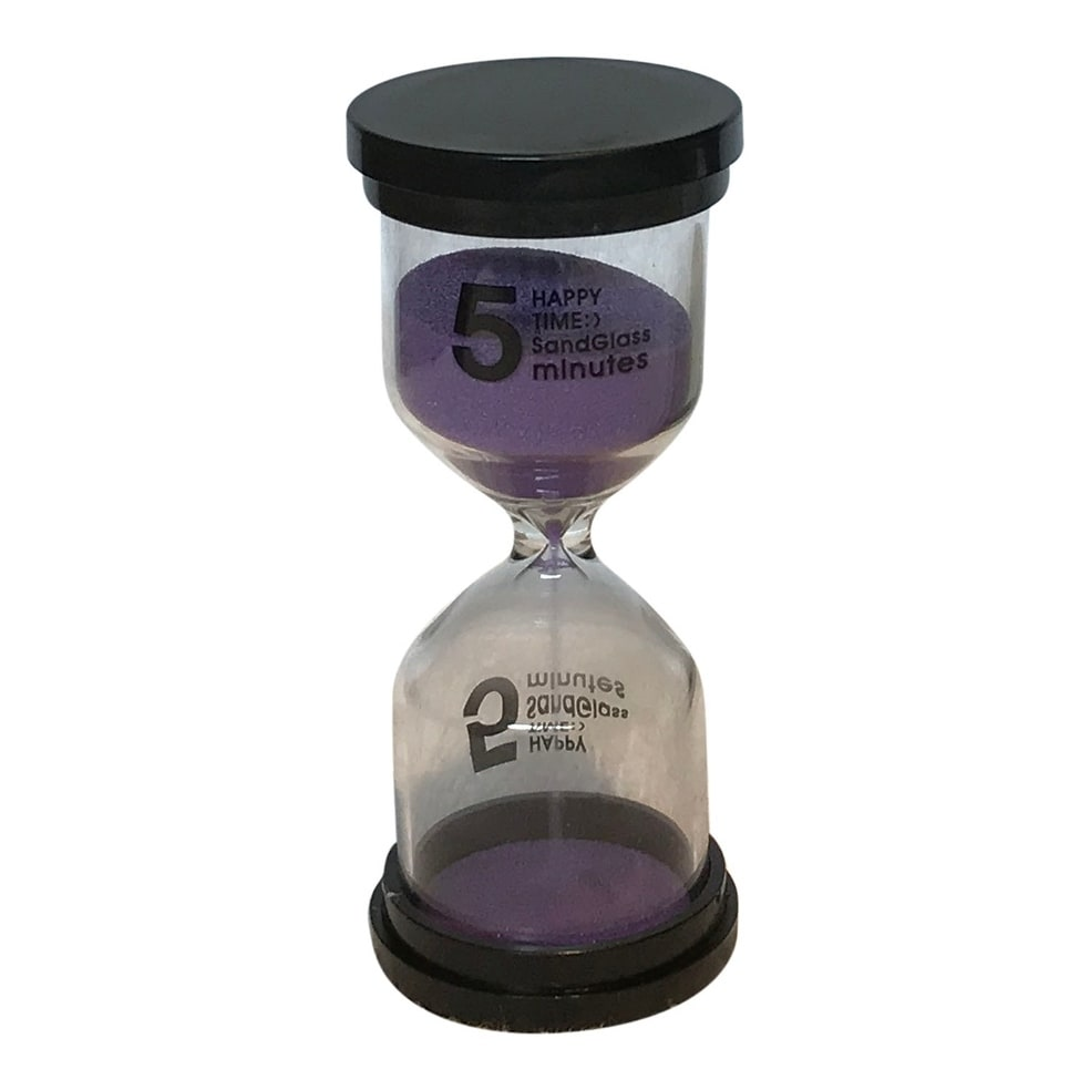 Shop Creative Motion Decorative 5 Minutes Sand Timer With Purple