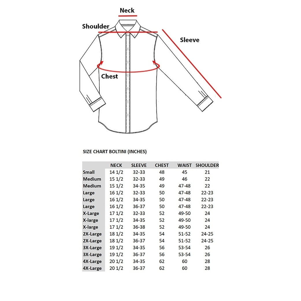 4f796538 Shop Boltini Brand Mens Fitted Button Down Long Sleeve Dress Shirt Gray -  On Sale - Free Shipping On Orders Over $45 - Overstock - 24147750