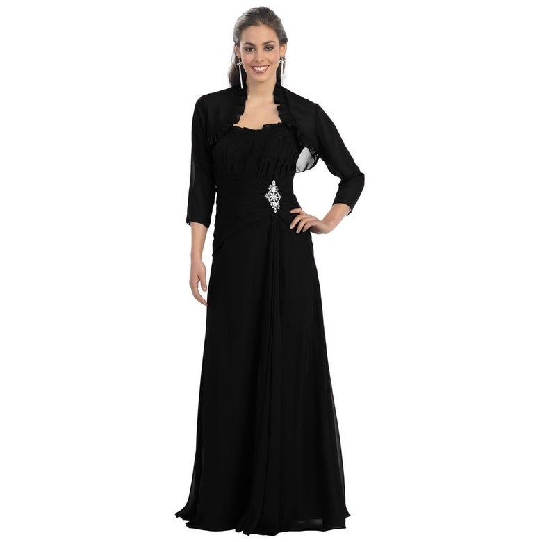 06a2bed0f11 Shop Elegant Mother of the Bride Dress With Matching Jacket - Free Shipping  Today - Overstock - 24184054