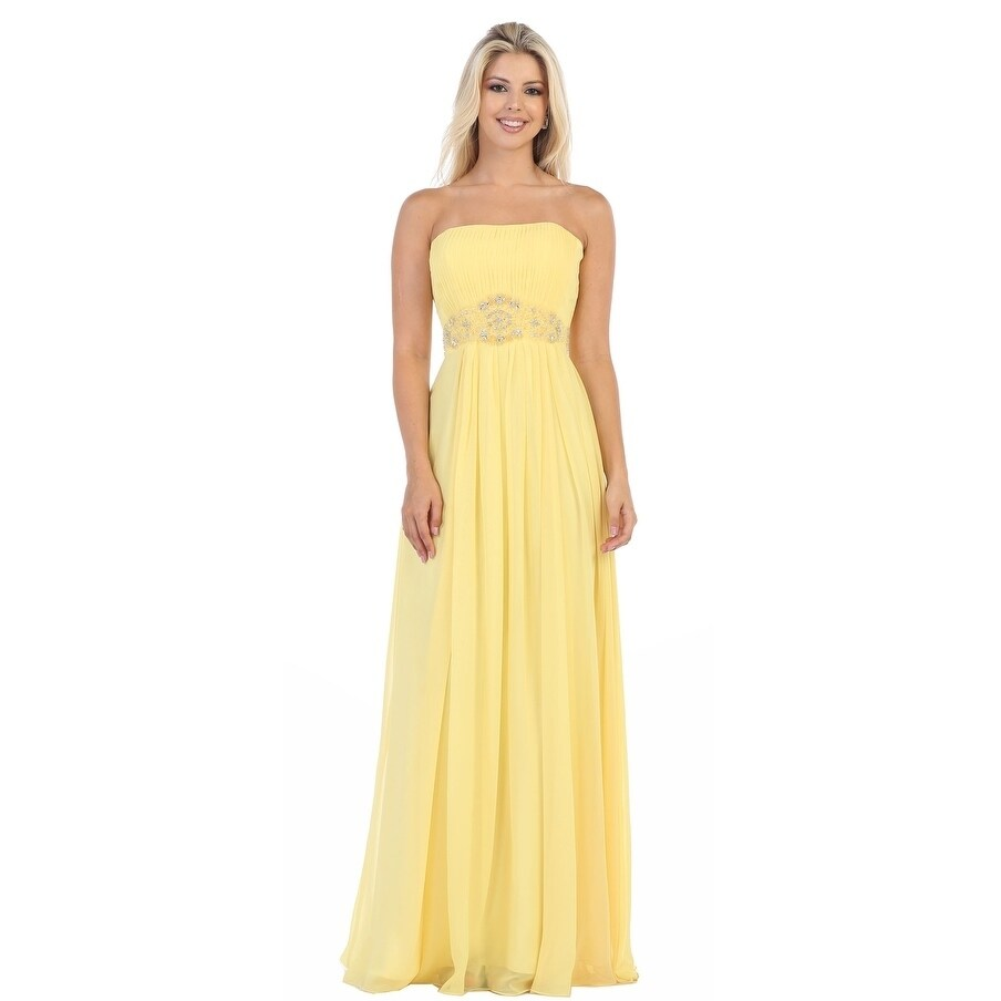 Shop Simple Yet Beautiful Long Bridesmaids Dresses & Plus Size ...