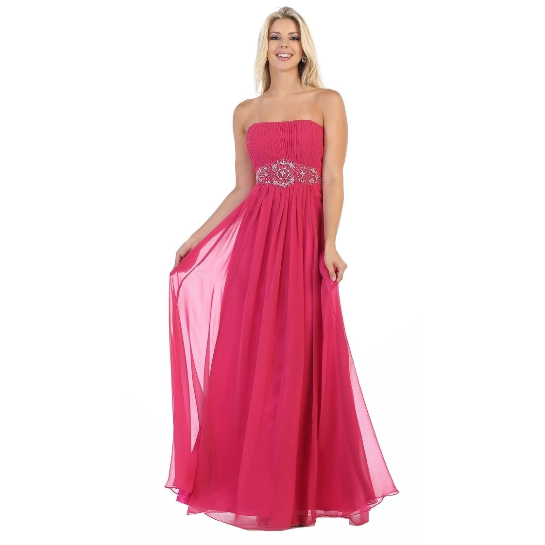 b0cca48eec Shop Simple Yet Beautiful Long Bridesmaids Dresses   Plus Size - Free  Shipping Today - Overstock - 24184055
