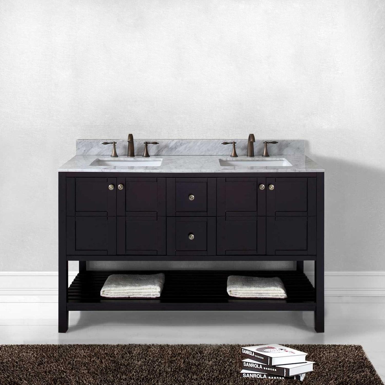 Shop Winterfell 60 Double Bathroom Vanity Set In Espresso On Sale
