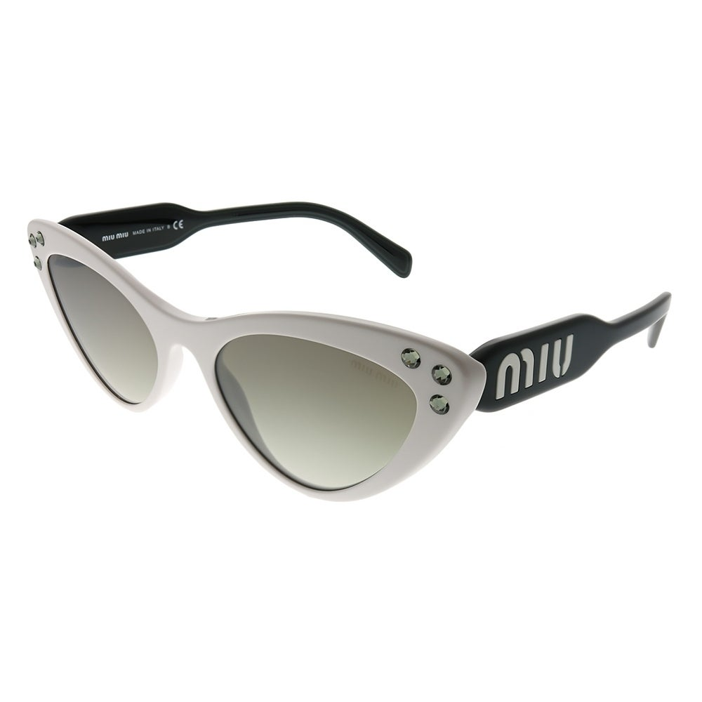 12fc787cf79e Miu Miu Cat-Eye MU 05TS 4AO5O0 Women White Frame Silver Mirror Gradient  Lens Sunglasses