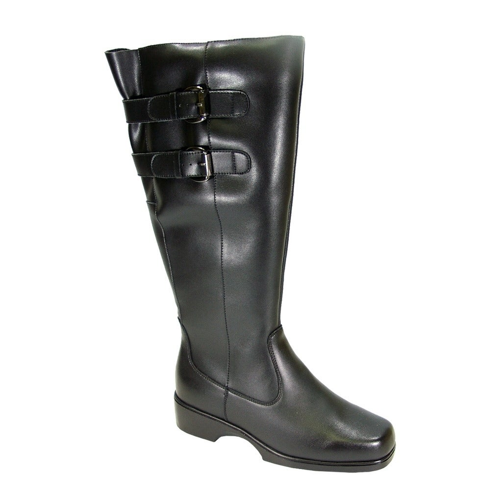 PEERAGE Hayden Women Extra Wide Width Wide Calf Leather Knee-High Boot 1a741b83e9