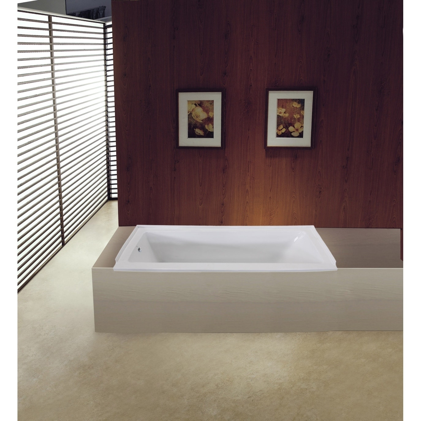 60 X 30 Inches Drop In Acrylic Bathtub Left White Free Shipping Today 24216231