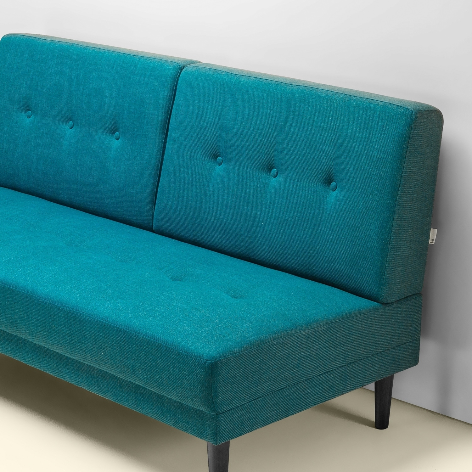 Shop Priage By Zinus Mid Century Armless 65 Inch Sofa Turquoise