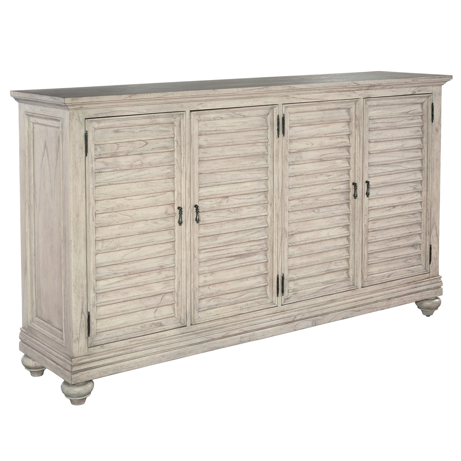Shop hekman furniture antique white wood 4 cabinet storage media console free shipping today overstock com 24228877