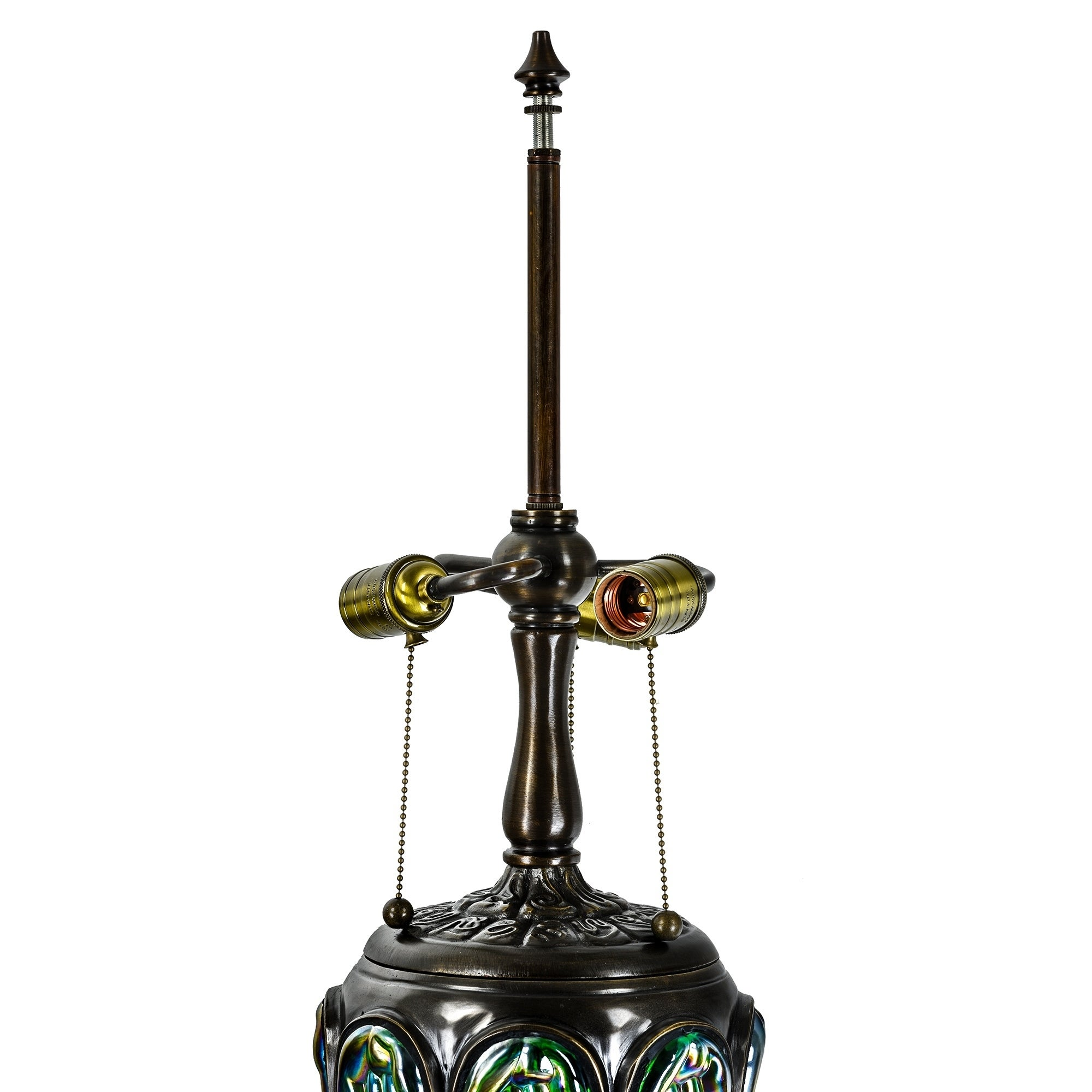 b16bac53dd67 Tiffany Style Table Lamp Brass Base Victorian Dragonfly Jeweled Double Lit  Desk Lamp Stained Glass Home Decor Lighting