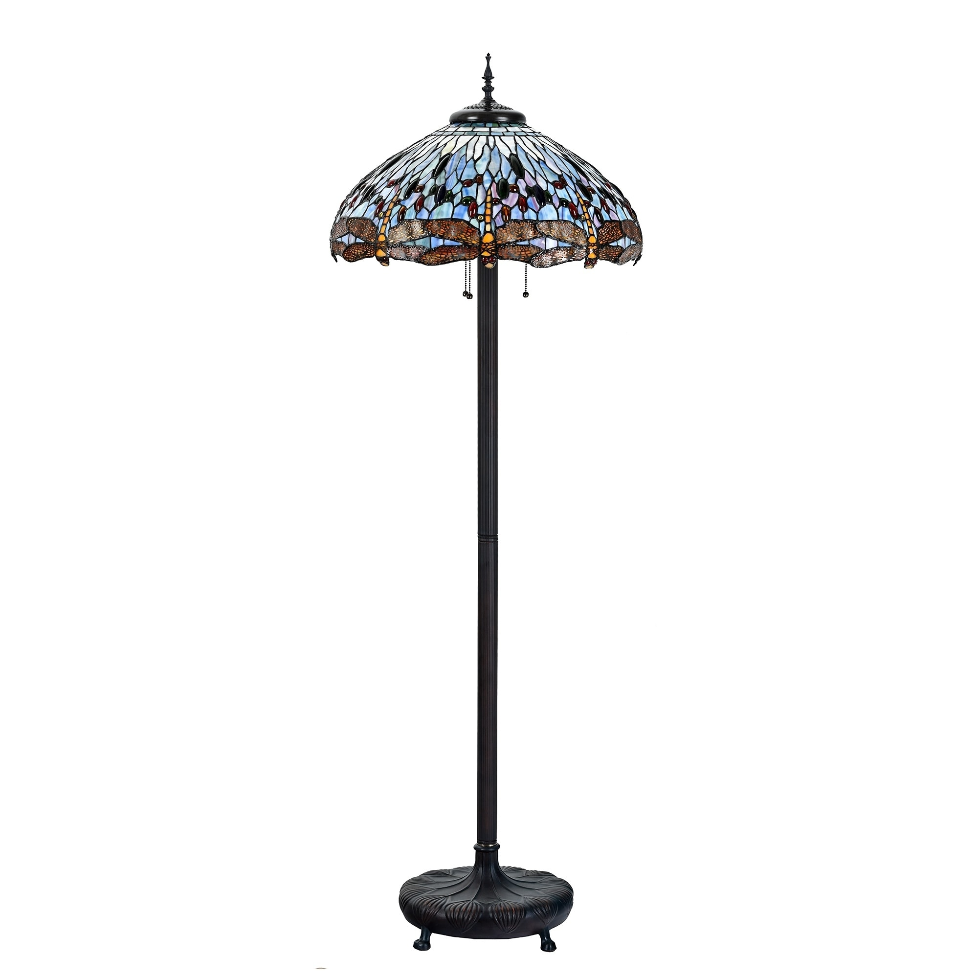 Tiffany Style 22 Inch Lampshade Floor Lamp Victorian Dragonfly Home Decor Stained Gl Lighting On Free Shipping Today