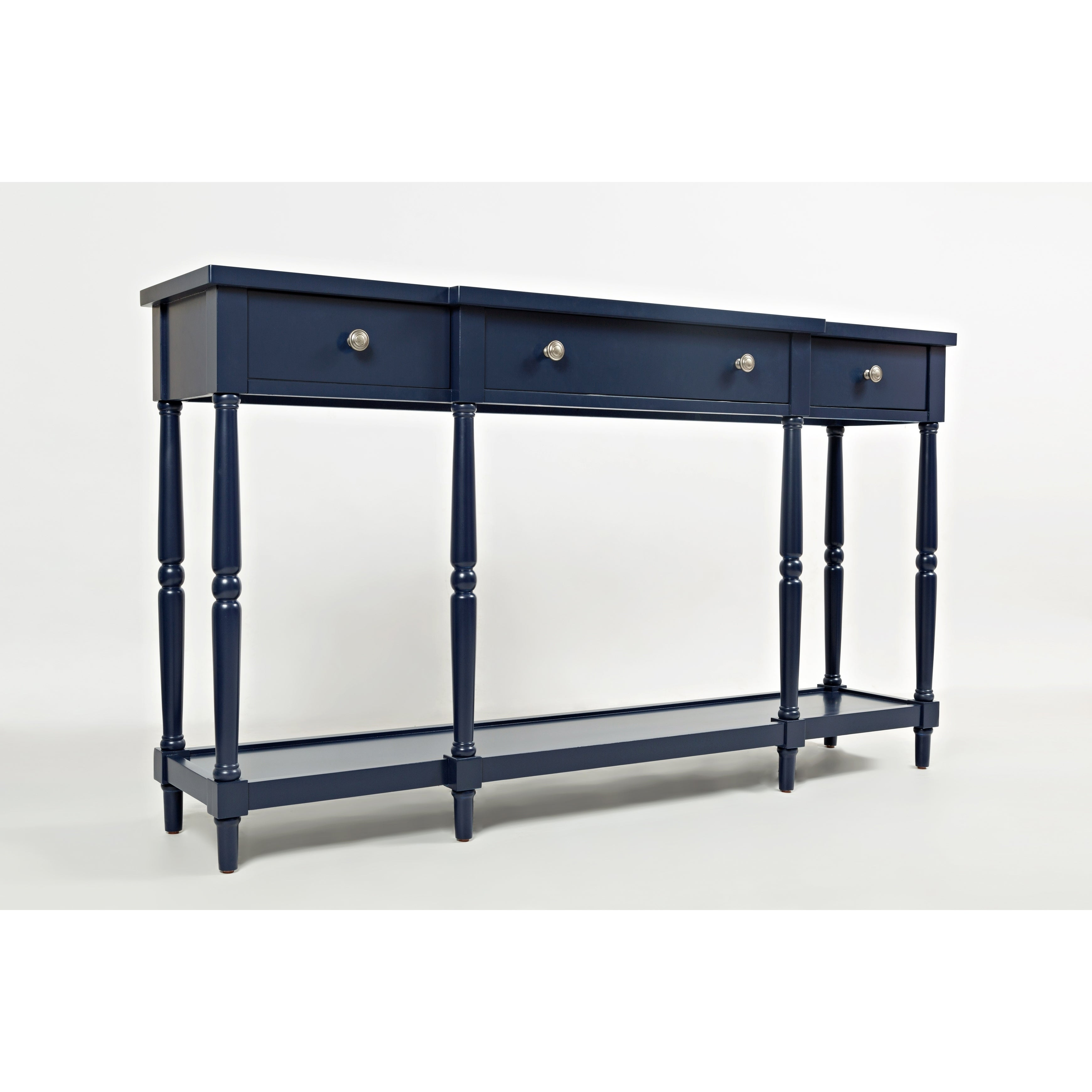 Exceptionnel Shop Breakfront Detailed Wooden Console Table With 3 Drawers, Navy Blue    On Sale   Free Shipping Today   Overstock   24230182