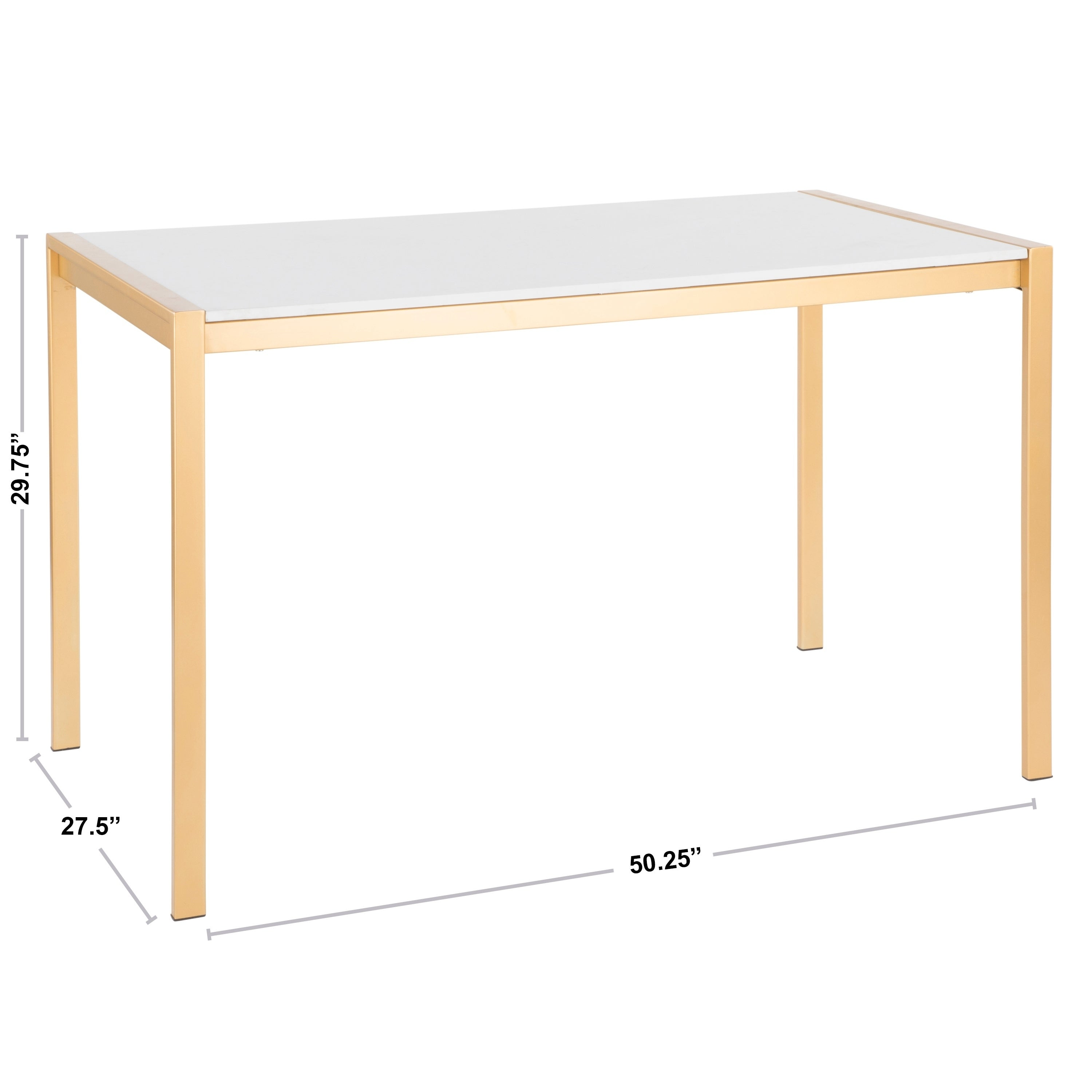 Lumisource Fuji Gold Dining Table White Marble On Free Shipping Today 24238474