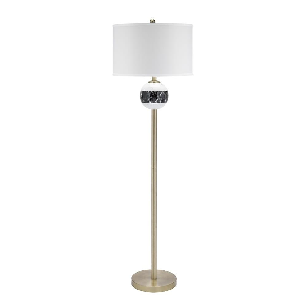 Shop Catalina Lighting Murrieta Mid Century Marble Stripe Pattern 3 Way Switch Floor Lamp Free Shipping Today 24239254
