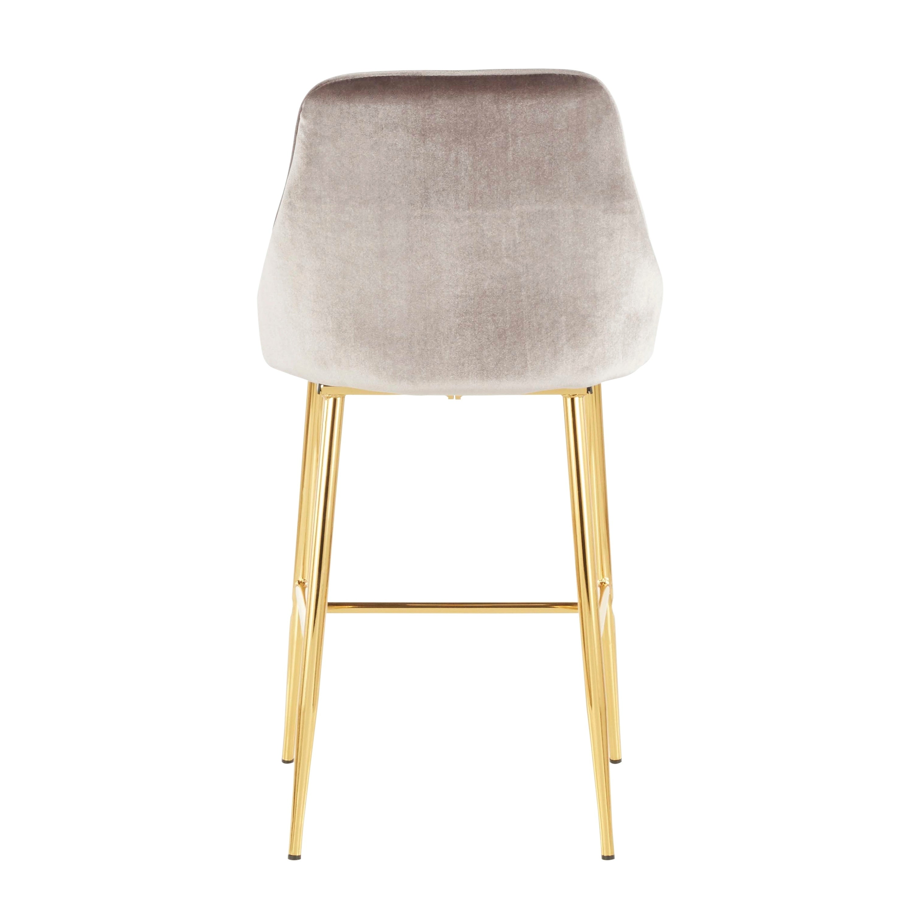 Shop lumisource marcel contemporary glam gold counter stool set of 2 on sale free shipping today overstock com 24239316