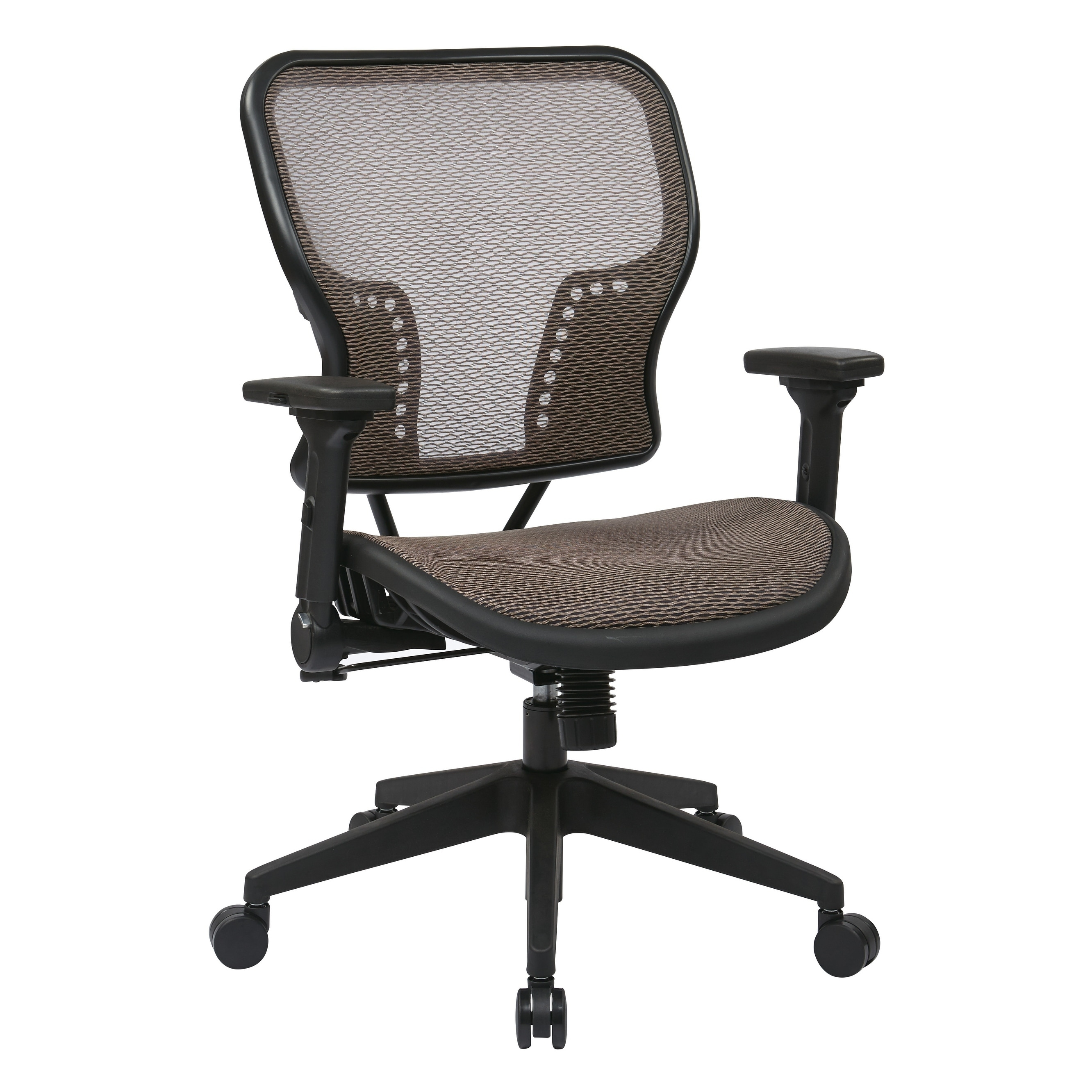 Shop Office Star SPACE Seating Latte Air Grid® Seat And Back Chair With  2 To 1 Synchro Tilt Control   Free Shipping Today   Overstock   24239345