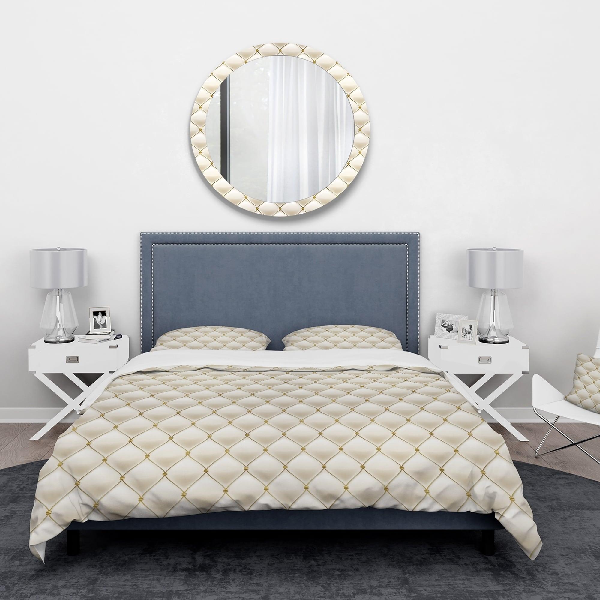 Designart Fancy Leather Sofa Vintage Bedding Set Duvet Cover Shams