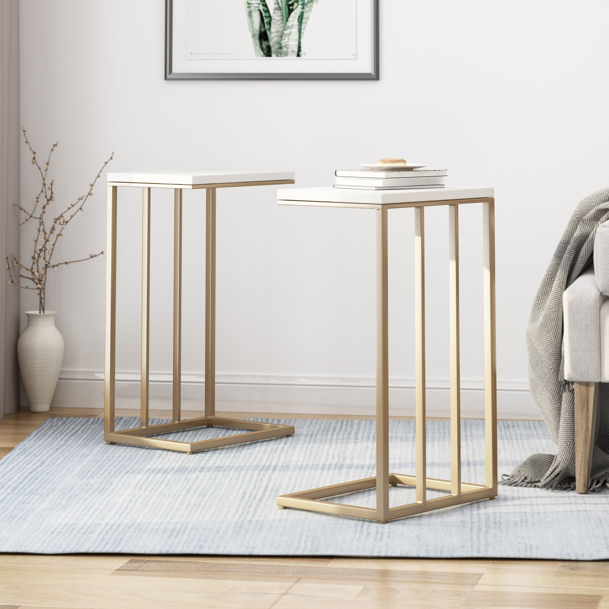 Baywinds modern c side table set of 2 by christopher knight home