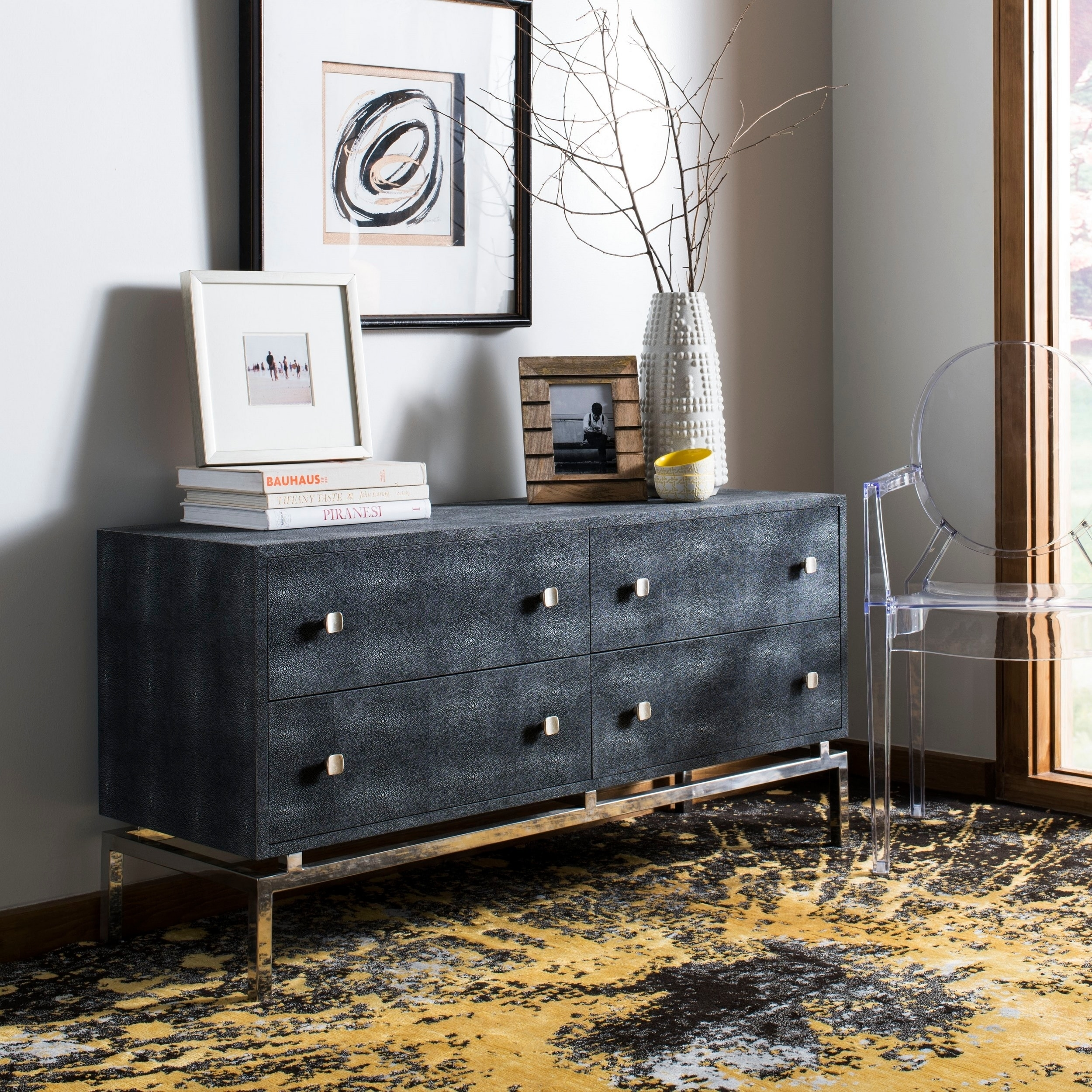 Shop Safavieh Couture Dimitri 4 Drawer Dresser Black Steel On