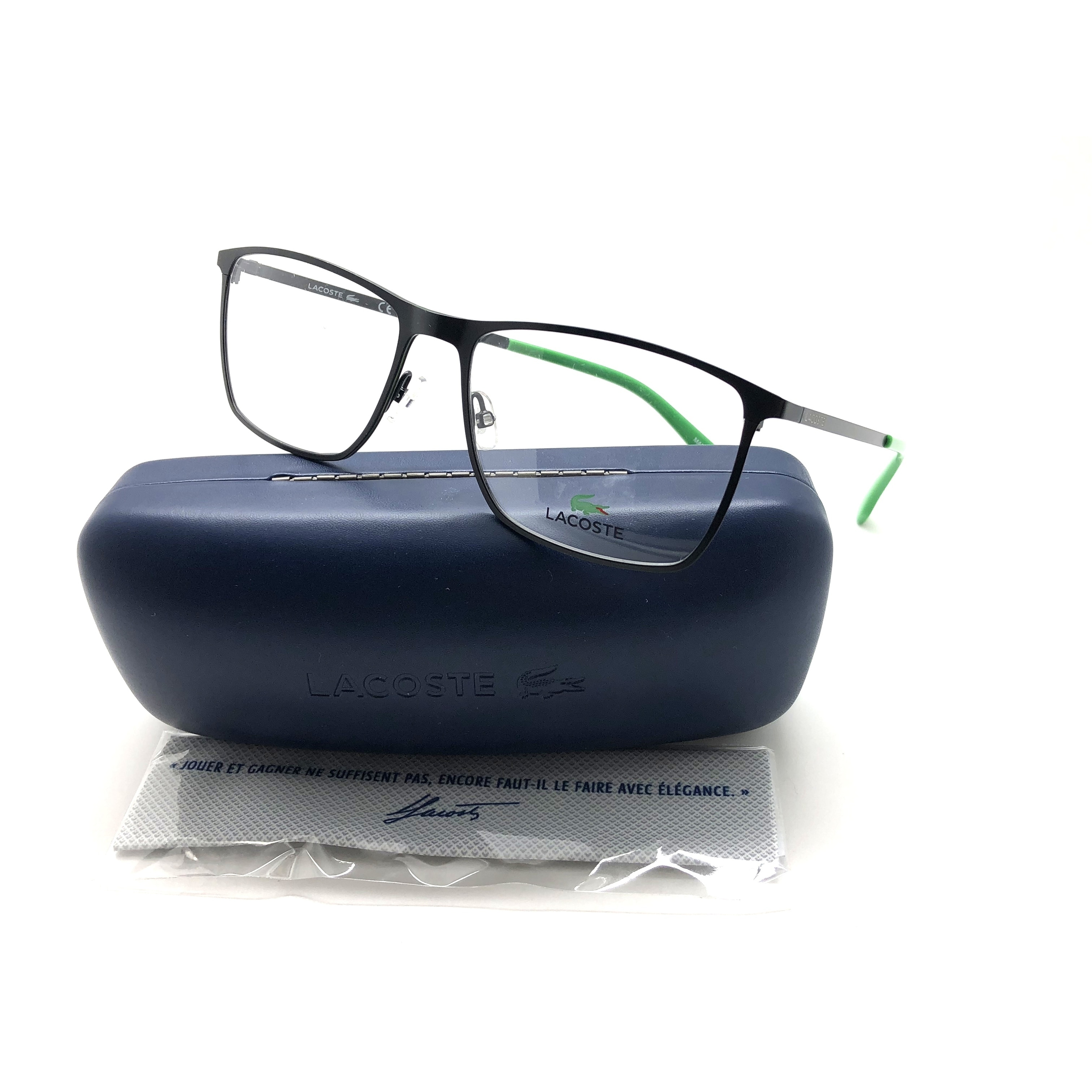 9759879ac2ad1b Shop lacoste mens eyeglasses frames matte black green free shipping today  jpg 3024x3024 Lacoste round frames