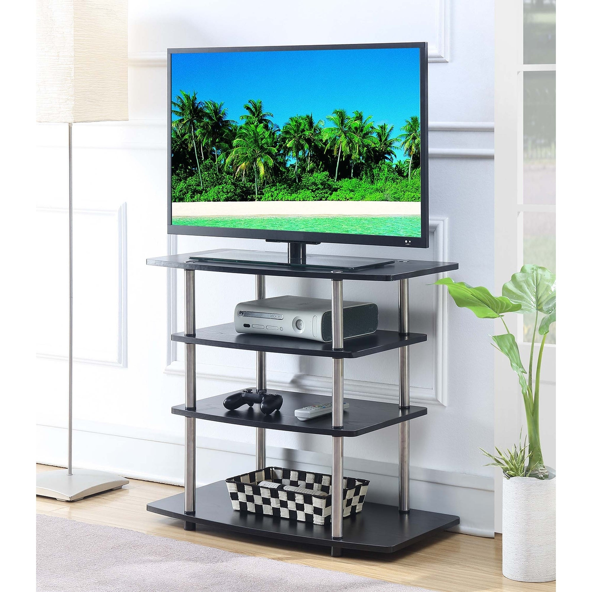 Shop Convenience Concepts Designs2go No Tools Highboy Tv Stand On