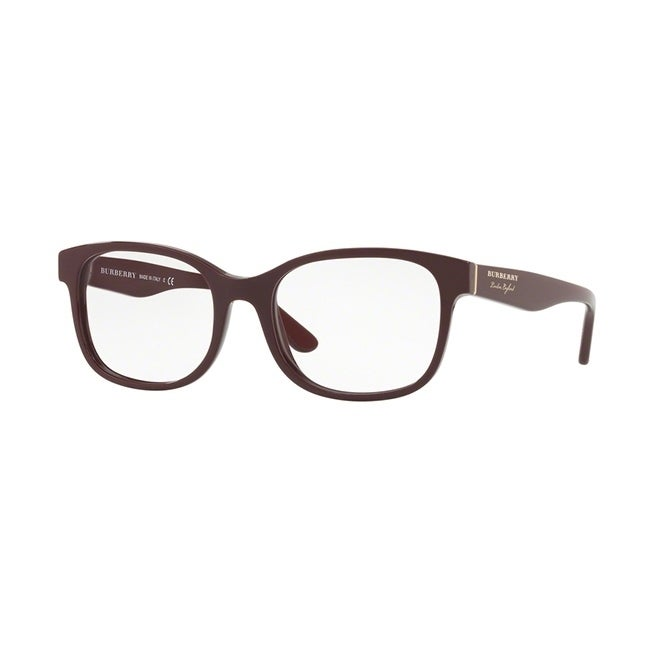 e488e5aadda3 Shop Burberry Square BE2263 WoMens BORDEAUX Frame Demo Lens Eyeglasses -  Free Shipping Today - Overstock - 24256928