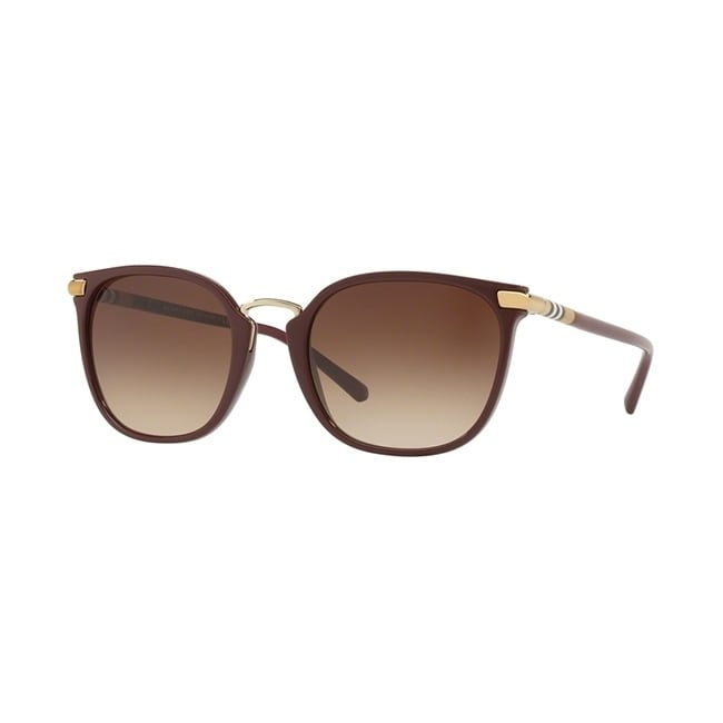 1806d7d050 Shop Burberry Square BE4262 WoMens BORDEAUX Frame BROWN GRADIENT Lens  Sunglasses - Free Shipping Today - Overstock.com - 24257426