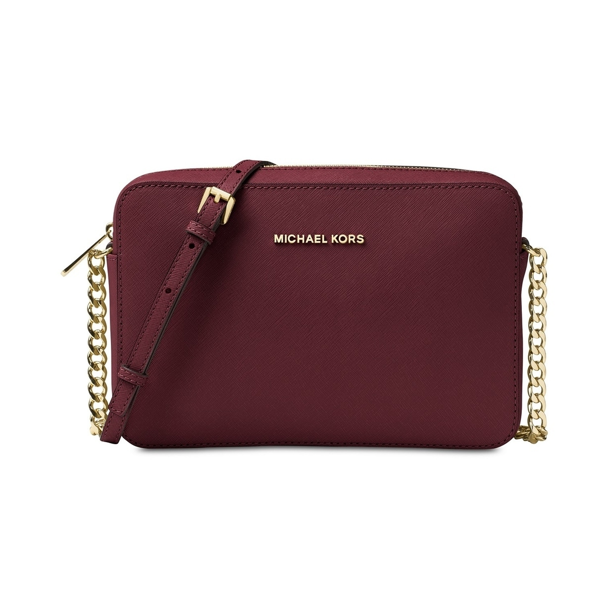 85eb0d9d16ae Shop Michael Kors Jet Set Large Saffiano Leather Crossbody Bag ...