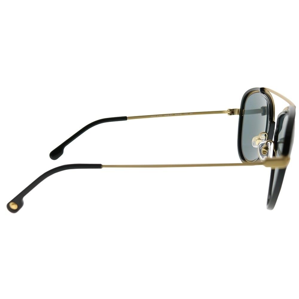 d44706fe81b Shop Versace Aviator VE 2193 142887 Unisex Tribute Gold Black Frame Grey  Lens Sunglasses - Free Shipping Today - Overstock - 24262718