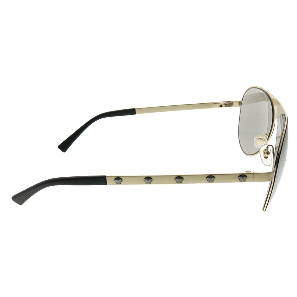321a33f2e496b Shop Versace Aviator VE 2189 13396G Unisex Brushed Pale Gold Frame Silver Mirror  Lens Sunglasses - Free Shipping Today - Overstock - 24262744