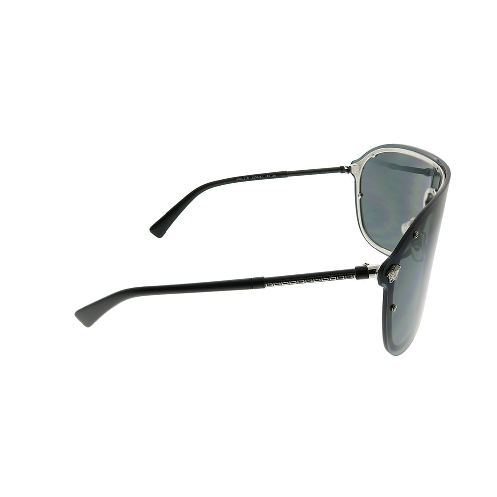 a1341ff8a4 Shop Versace Shield VE 2180 100087 Unisex Silver Frame Grey Lens Sunglasses  - Free Shipping Today - Overstock - 24262781