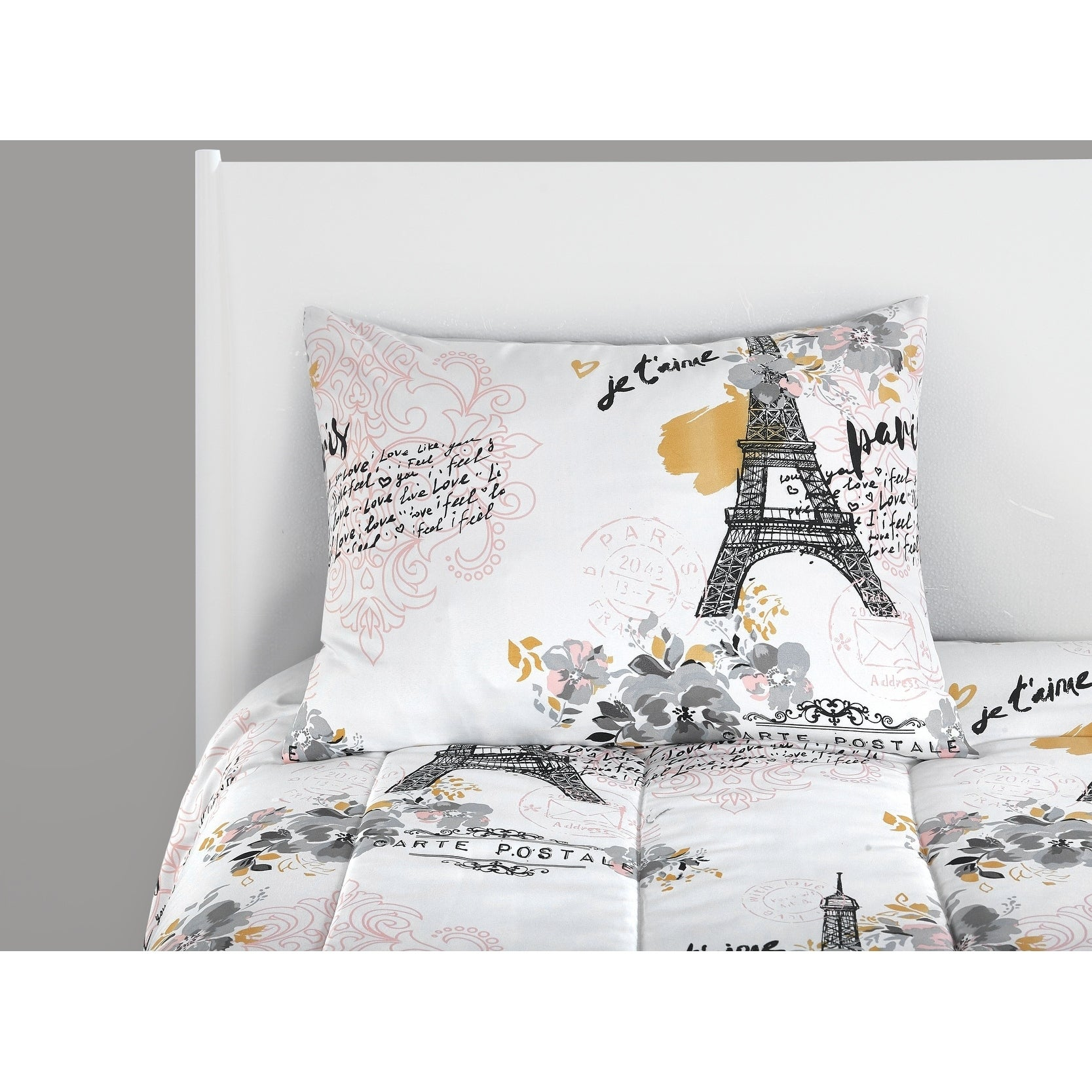 Shop Paris Eiffel Tower Bed In A Bag On Sale Free Shipping Today