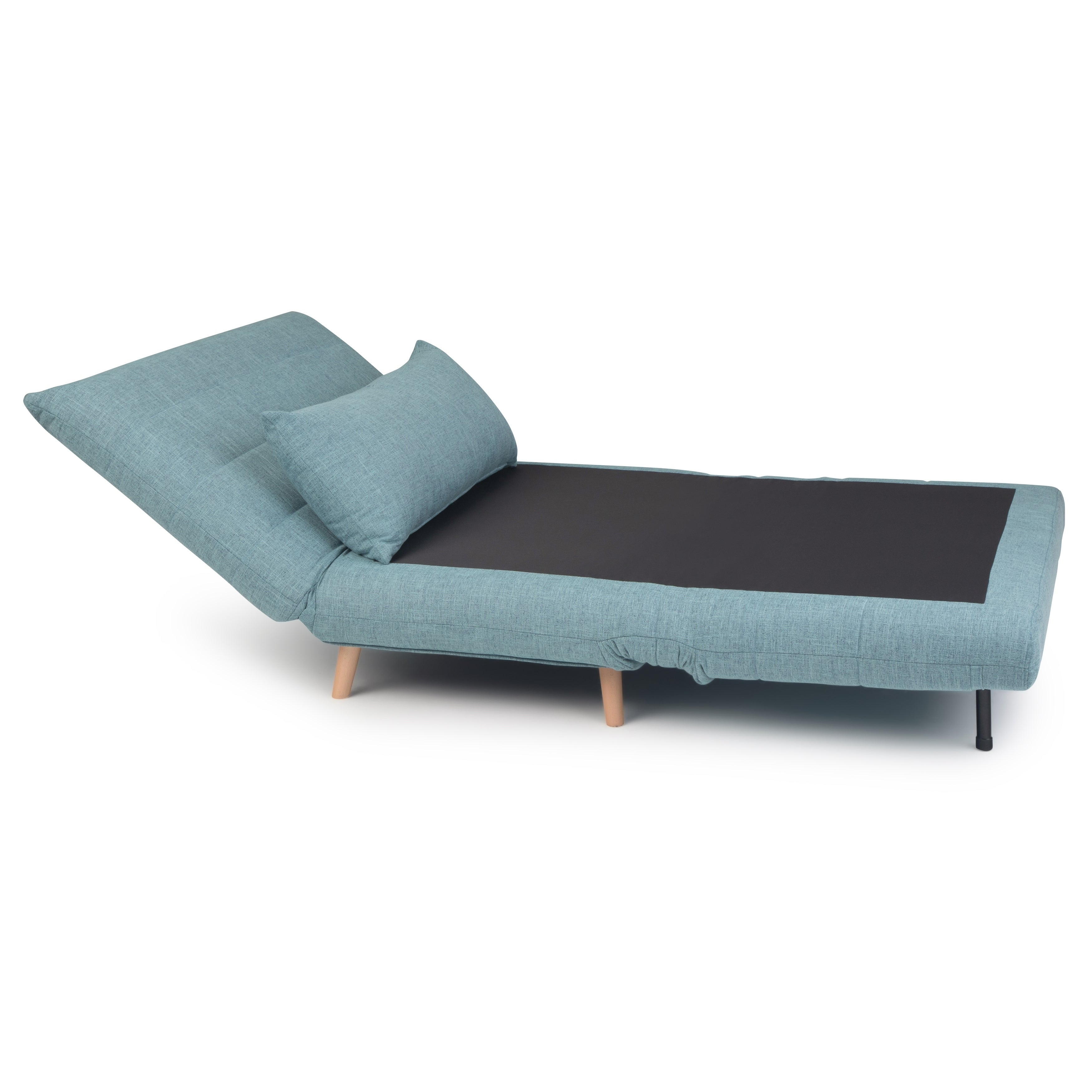 Wyndenhall Gallo Contemporary 42 Inch Wide Sofa Bed In Dark Cyan Linen Look Fabric On Free Shipping Today 24265379