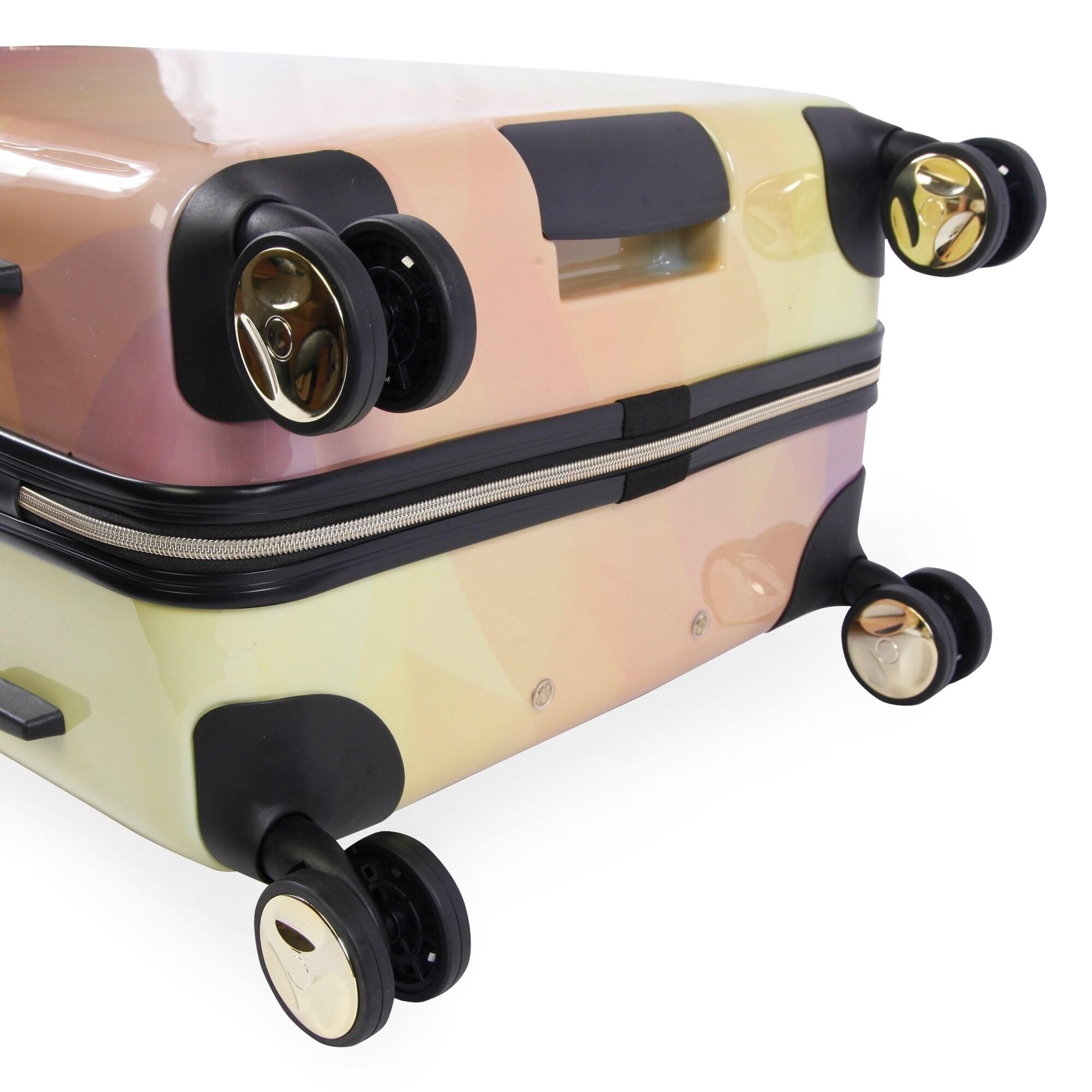 0349e966511 Shop Bebe Emma 3-pc Hardside Spinner Luggage Set - Free Shipping Today -  Overstock - 24266111