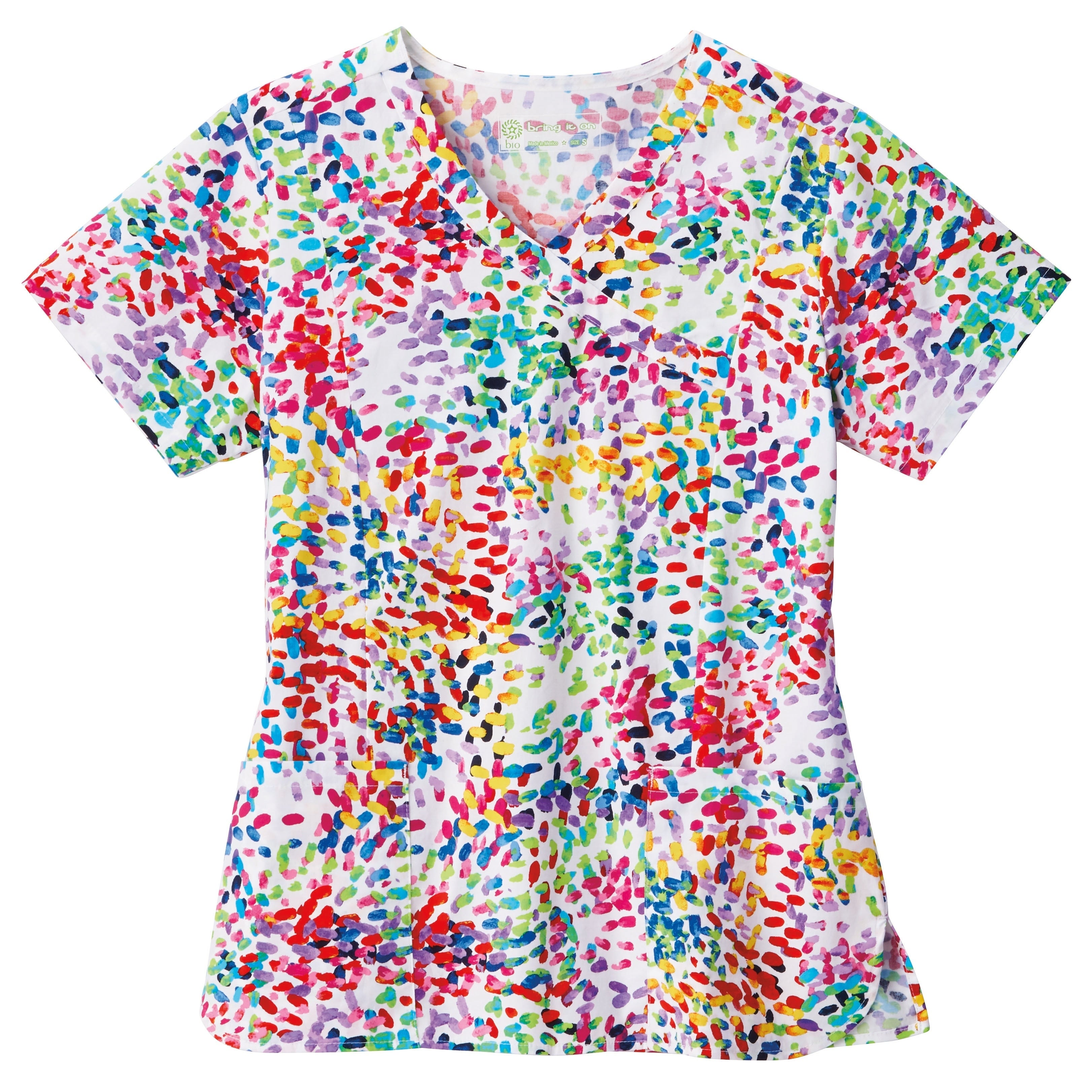 b7ea596b642 Shop BIO Print Ladies Mock Wrap Scrub Top - Free Shipping On Orders Over  $45 - Overstock - 24300539