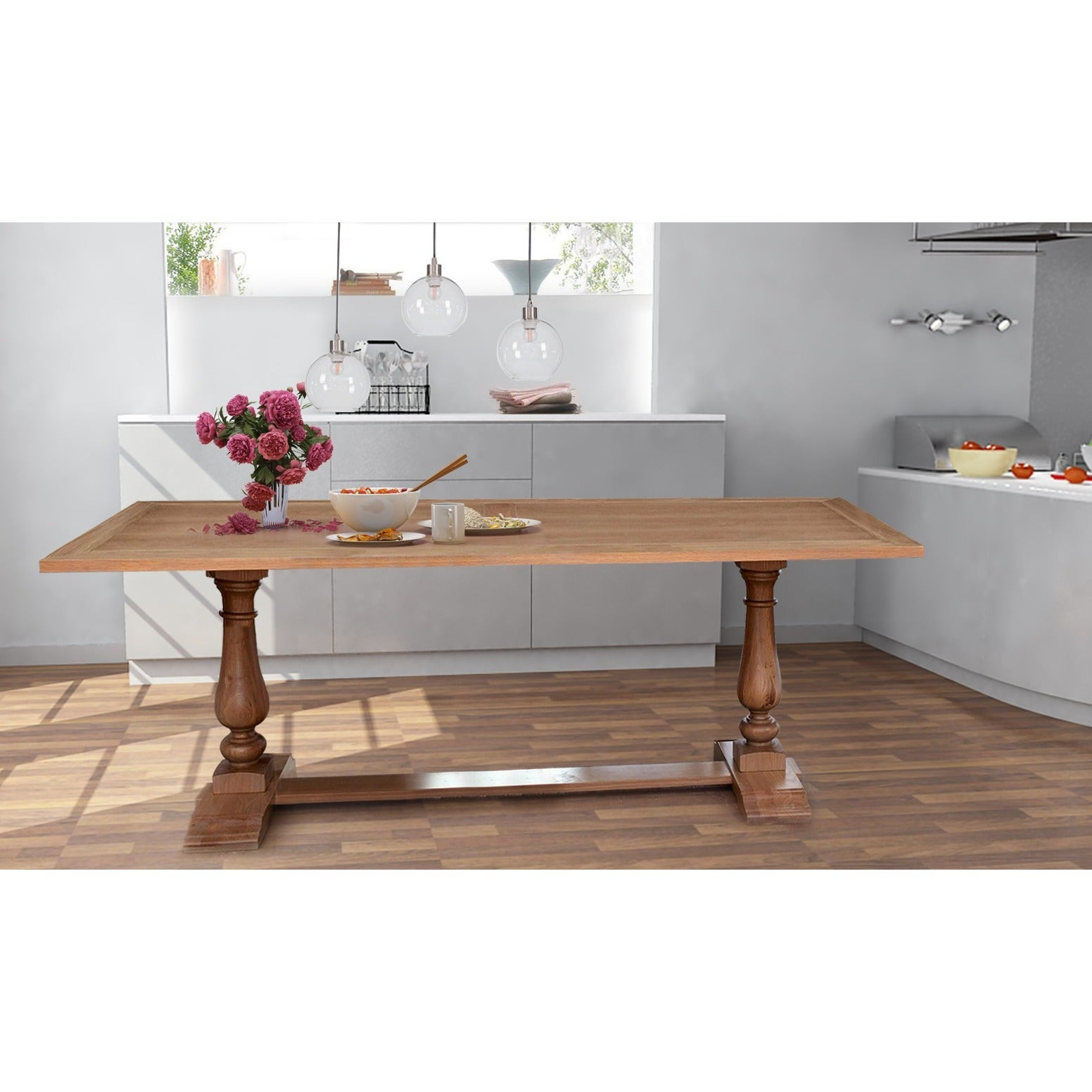 Hector 95 inch acacia wood dining table