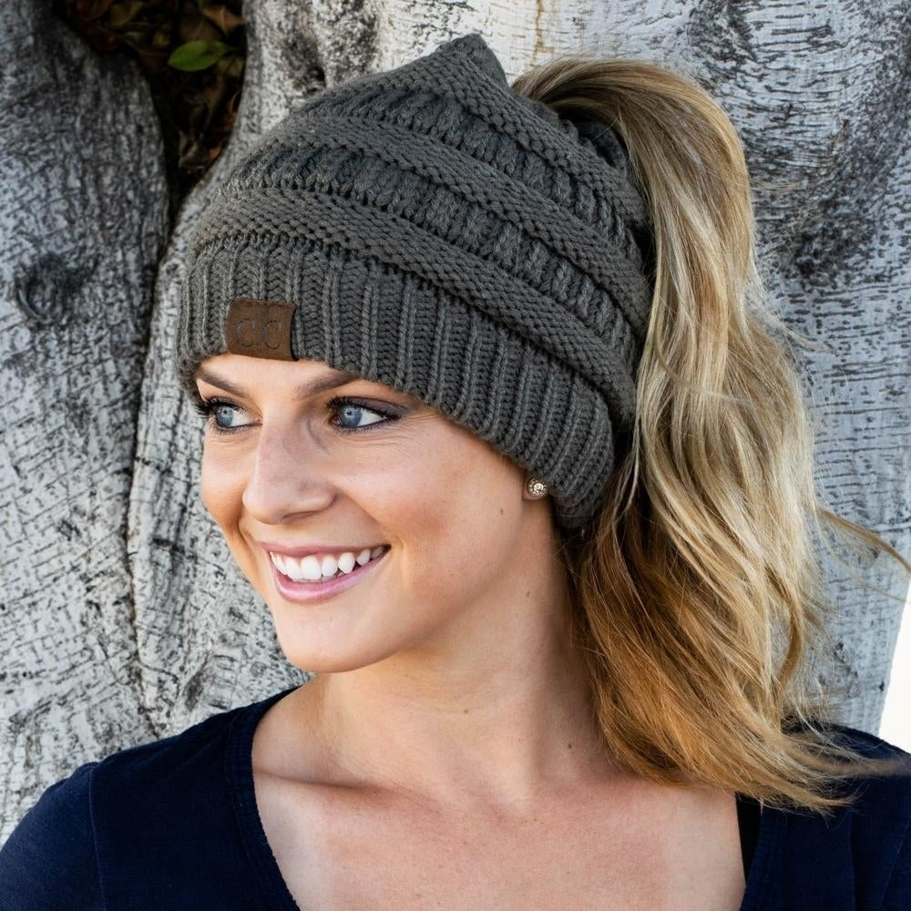 f81d6c61e44 Shop Messy Bun Beanie Ponytail Beanie - On Sale - Free Shipping On Orders  Over  45 - Overstock - 24301647