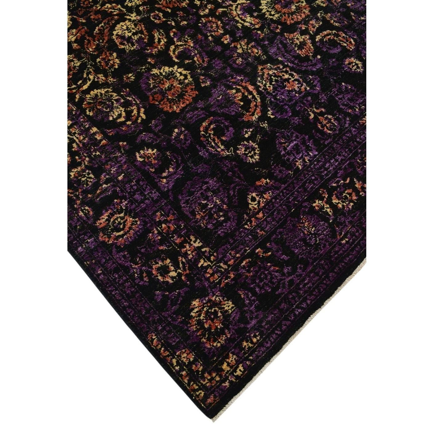 Noori Rug Aria Fine Chobi Juniper Black Purple 6 2 X 9 4 Free Shipping Today 24305057