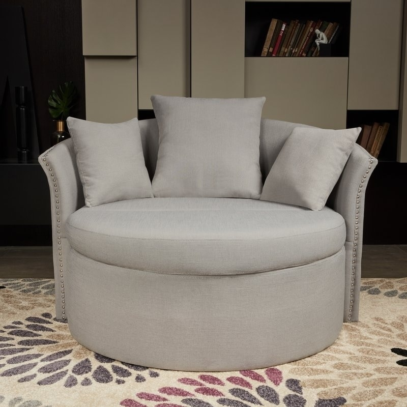 Lokatse Indoor Accent Upholstery Circular Round Shape Loveseat With Cushions And Pillows Free Shipping Today 24305616