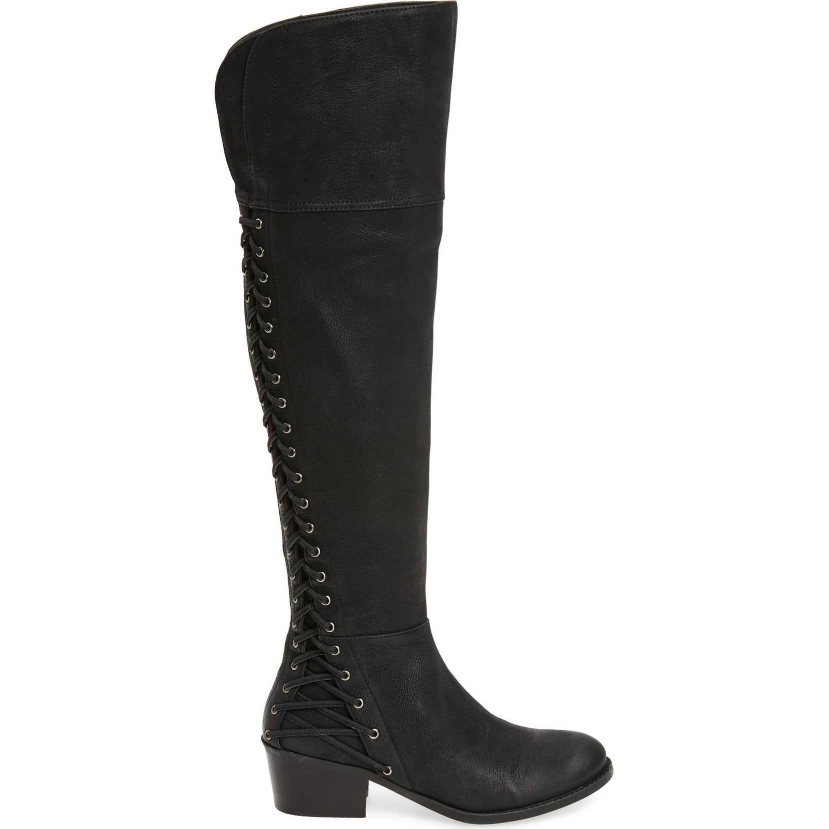3759f0cc05d Shop Vince Camuto Bolina Black Leather Over-the-knee Fitted Riding Bestan  Boot - Free Shipping Today - Overstock - 24307275