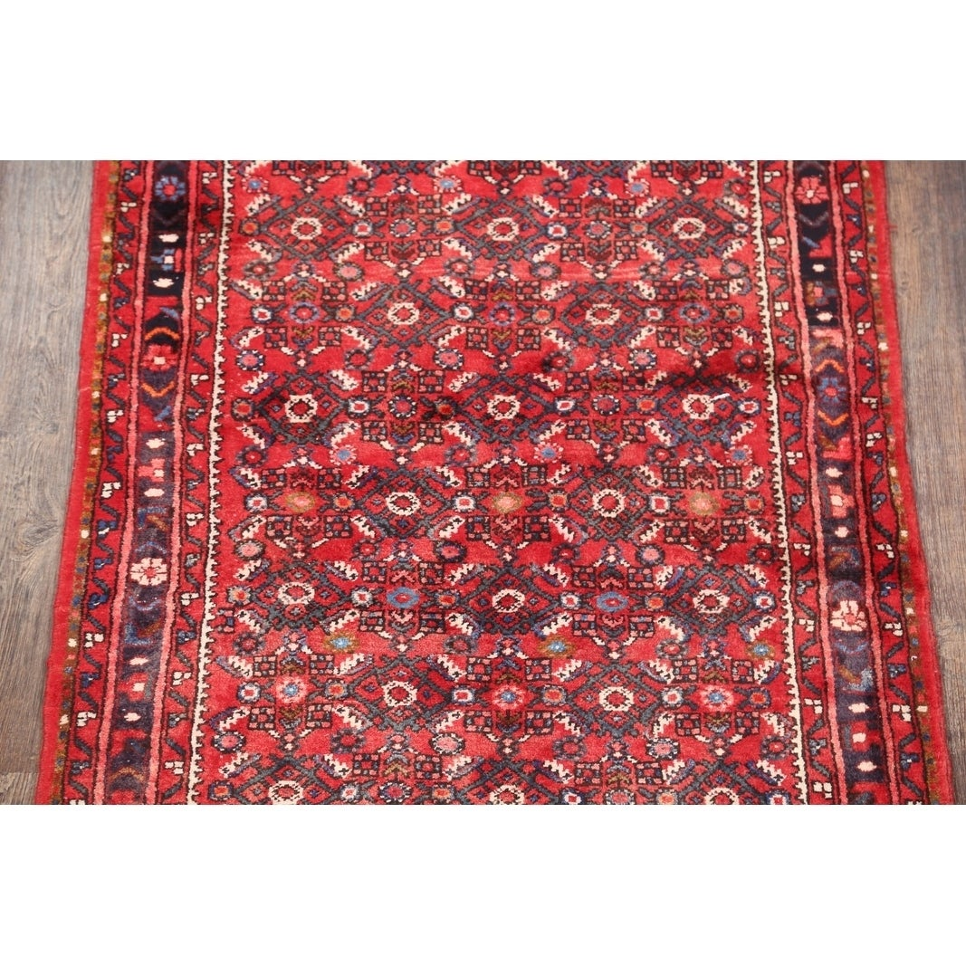 Hossainabad Hand Made Persian Geometric Rug Runner 12 Ft Long 1 X 3 8 Free Shipping Today Com 24318534