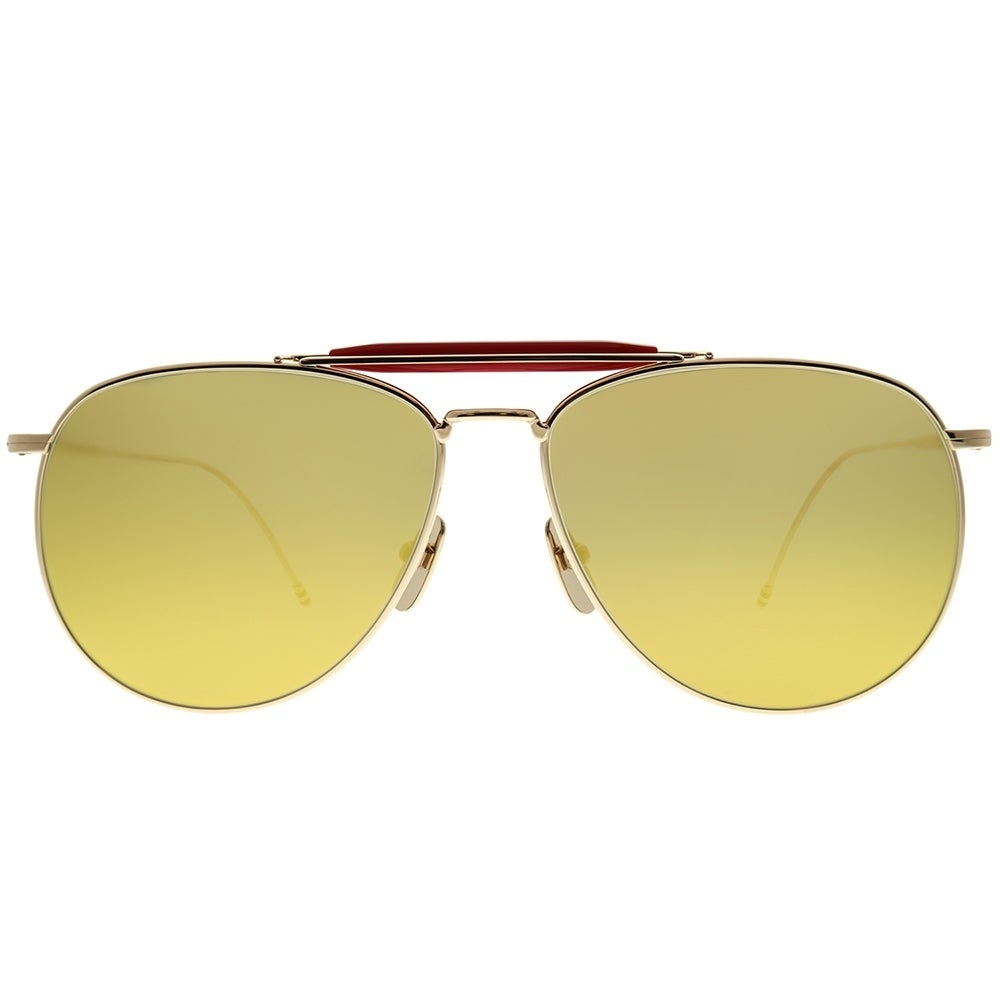 103fa50d5b0 Shop Thom Browne Aviator TB-015 LTD-GLD-62 Unisex Gold-Red Frame Gold  Mirror AR Lens Sunglasses - Free Shipping Today - Overstock - 24320660