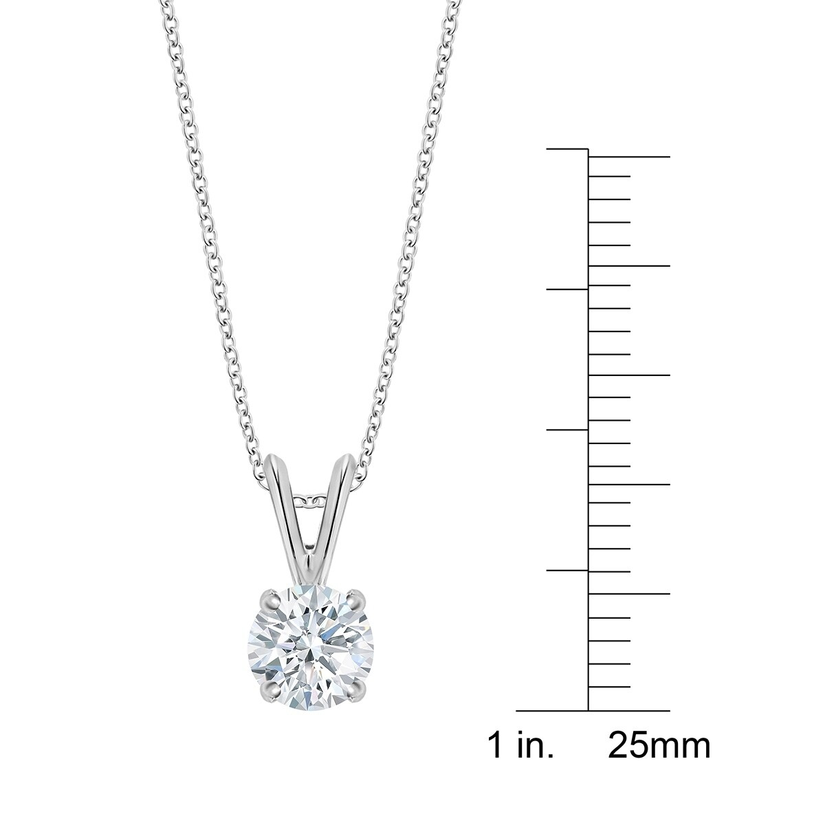 458fbf9f58221 Shop 14K Gold Diamond Pendant Necklace - Round 1 2 CTTW - IGI Certified -  White H-I - On Sale - Free Shipping Today - Overstock - 24331415