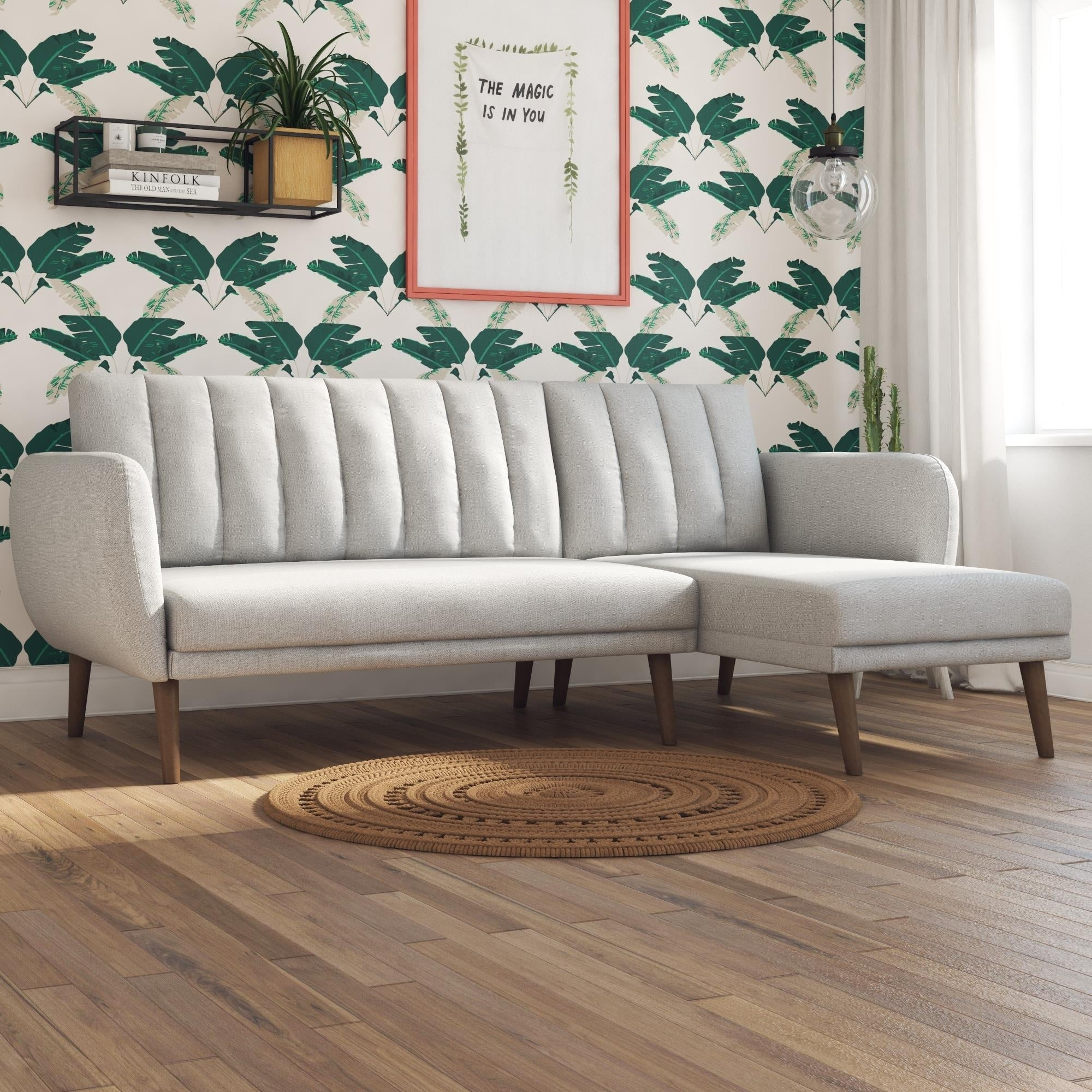 Shop Novogratz Brittany Sectional Futon Sofa - Free Shipping Today ...