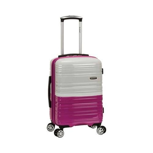 19384f00c14c Shop Rockland Melbourne 20in Expandable Carry On Magenta White - On Sale - Free  Shipping Today - Overstock.com - 20702605