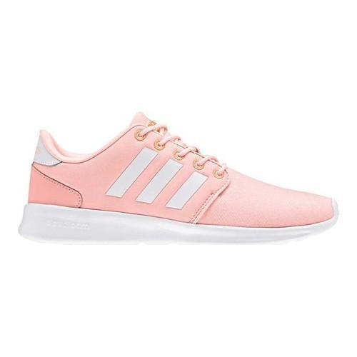 Shop  mujer 's adidas neo cloudfoam Qt Racer zapatilla Haze coral
