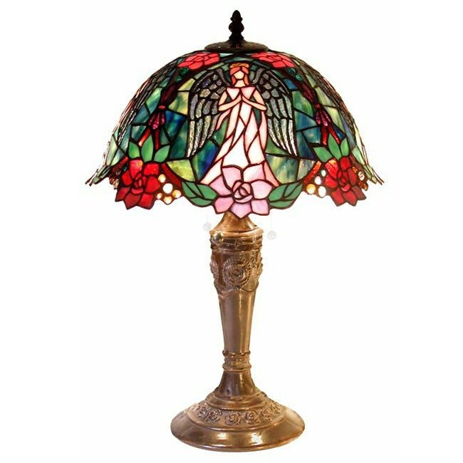 Warehouse Of Tiffany Tiffany Style Angel Table Lamp   Free Shipping Today    Overstock.com   10671167