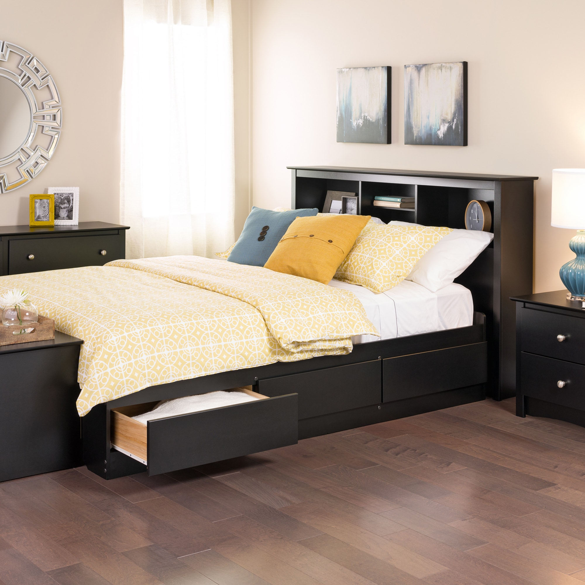 Black Queen Mate\'s 6-drawer Platform Storage Bed - Free Shipping ...